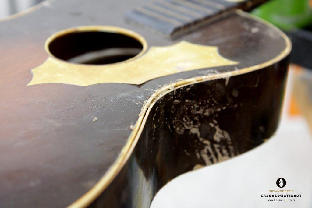 Επισκευή ακουστικής κιθάρας - Old Acoustic Guitar Restored - Repair - Οργανοποιείο Σ. Μιλτιάδου - BouzoukiCy - Cyprus - Κύπρος (10)