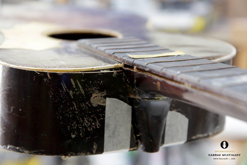 Επισκευή ακουστικής κιθάρας - Old Acoustic Guitar Restored - Repair - Οργανοποιείο Σ. Μιλτιάδου - BouzoukiCy - Cyprus - Κύπρος (11)