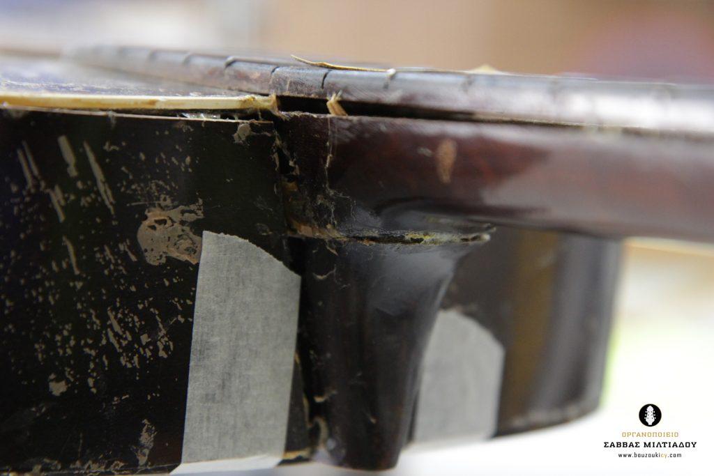 Επισκευή ακουστικής κιθάρας - Old Acoustic Guitar Restored - Repair - Οργανοποιείο Σ. Μιλτιάδου - BouzoukiCy - Cyprus - Κύπρος (12)