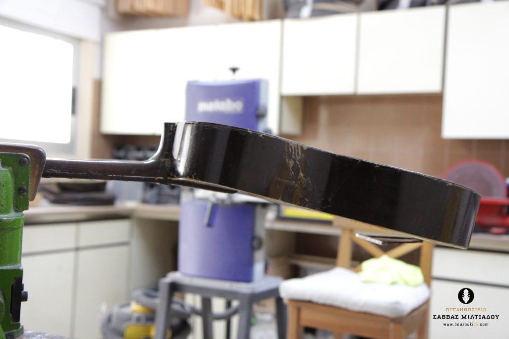 Επισκευή ακουστικής κιθάρας - Old Acoustic Guitar Restored - Repair - Οργανοποιείο Σ. Μιλτιάδου - BouzoukiCy - Cyprus - Κύπρος (17)