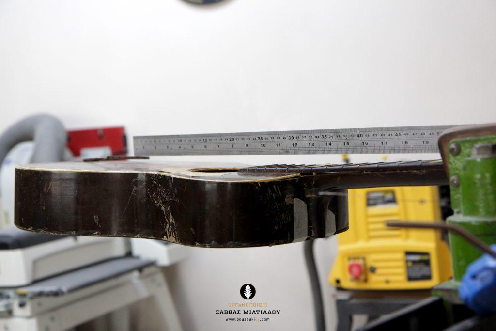 Επισκευή ακουστικής κιθάρας - Old Acoustic Guitar Restored - Repair - Οργανοποιείο Σ. Μιλτιάδου - BouzoukiCy - Cyprus - Κύπρος (18)