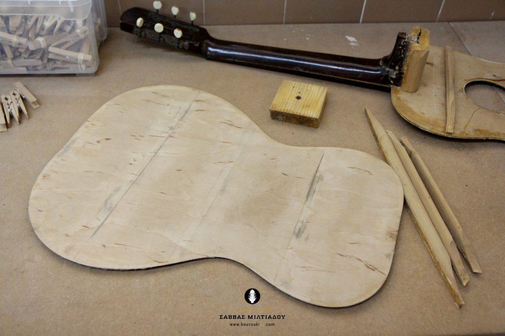 Επισκευή ακουστικής κιθάρας - Old Acoustic Guitar Restored - Repair - Οργανοποιείο Σ. Μιλτιάδου - BouzoukiCy - Cyprus - Κύπρος (19)