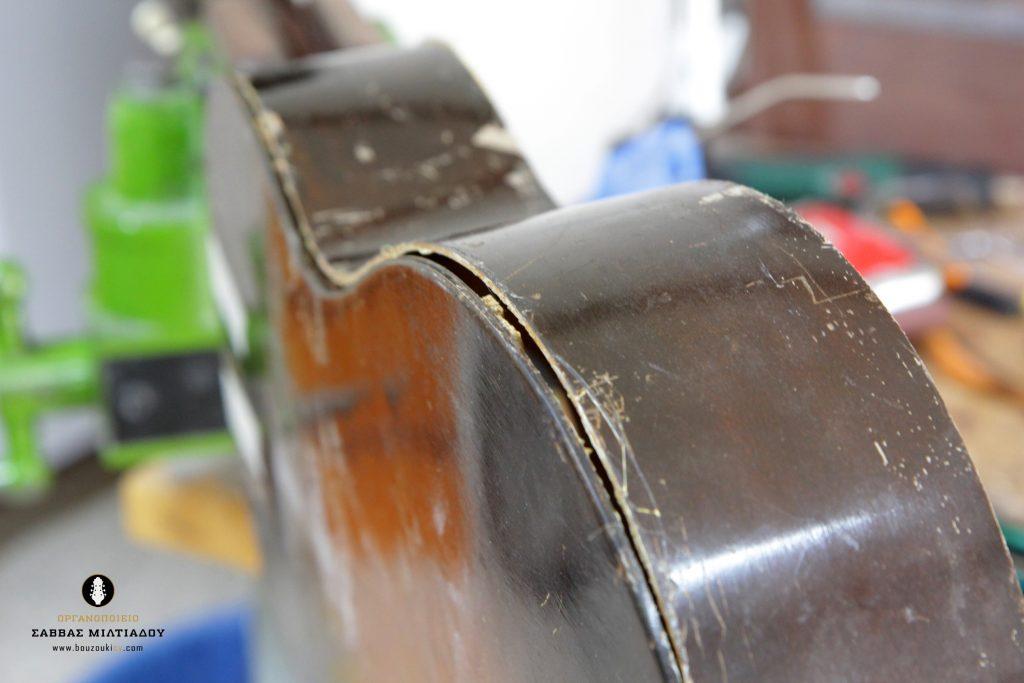 Επισκευή ακουστικής κιθάρας - Old Acoustic Guitar Restored - Repair - Οργανοποιείο Σ. Μιλτιάδου - BouzoukiCy - Cyprus - Κύπρος (2)