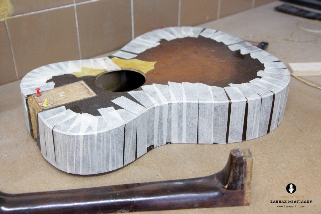 Επισκευή ακουστικής κιθάρας - Old Acoustic Guitar Restored - Repair - Οργανοποιείο Σ. Μιλτιάδου - BouzoukiCy - Cyprus - Κύπρος (24)