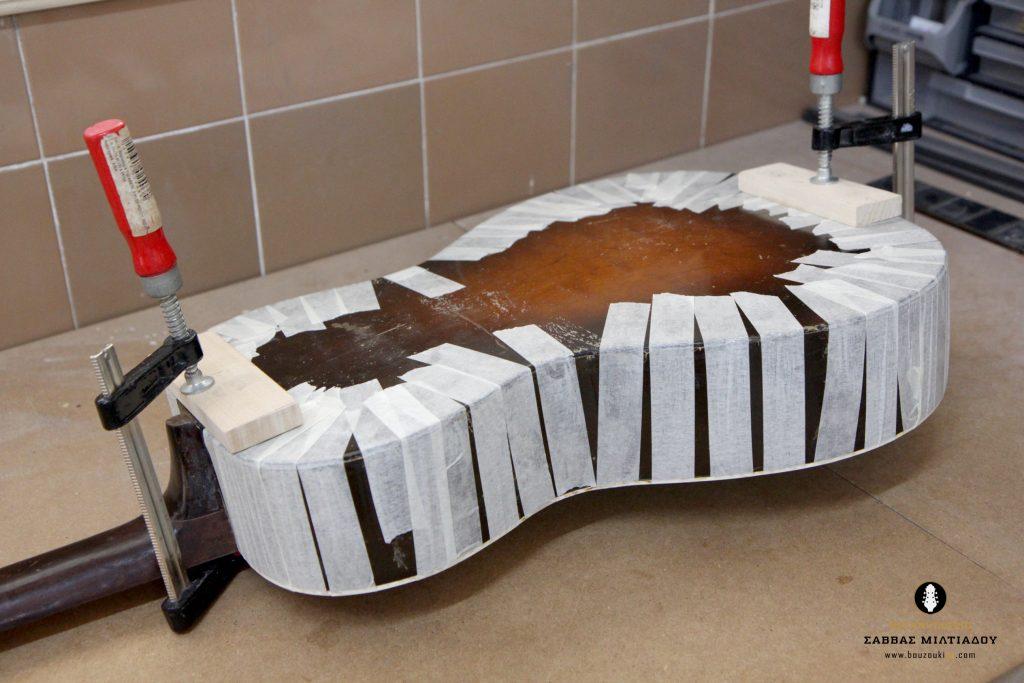 Επισκευή ακουστικής κιθάρας - Old Acoustic Guitar Restored - Repair - Οργανοποιείο Σ. Μιλτιάδου - BouzoukiCy - Cyprus - Κύπρος (25)