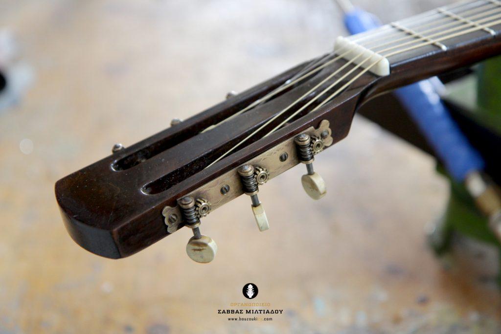 Επισκευή ακουστικής κιθάρας - Old Acoustic Guitar Restored - Repair - Οργανοποιείο Σ. Μιλτιάδου - BouzoukiCy - Cyprus - Κύπρος (27)
