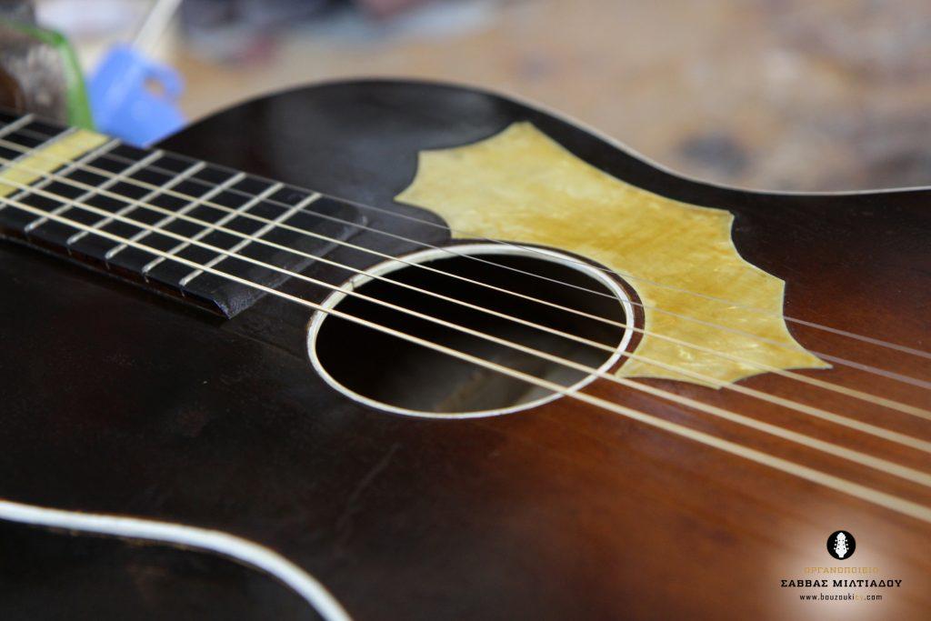 Επισκευή ακουστικής κιθάρας - Old Acoustic Guitar Restored - Repair - Οργανοποιείο Σ. Μιλτιάδου - BouzoukiCy - Cyprus - Κύπρος (29)