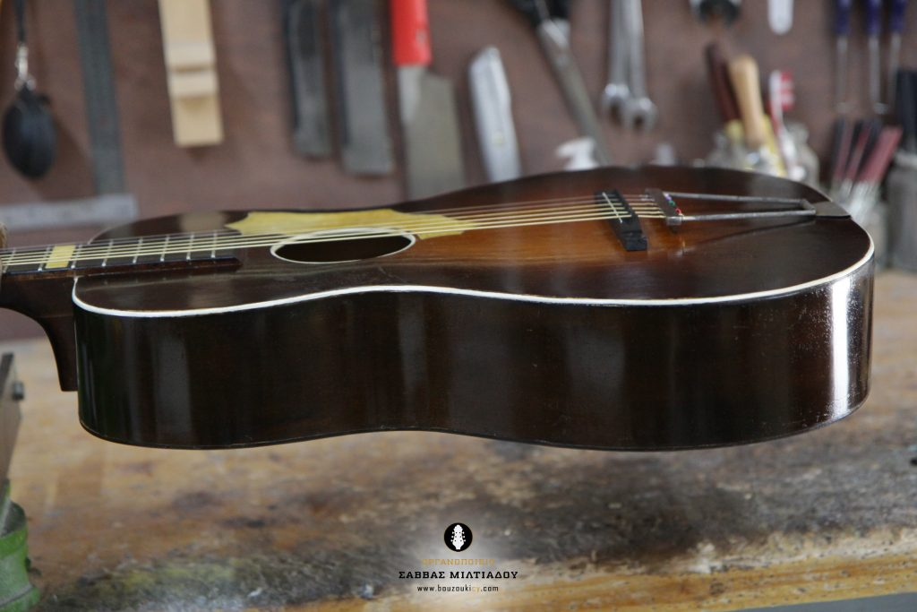 Επισκευή ακουστικής κιθάρας - Old Acoustic Guitar Restored - Repair - Οργανοποιείο Σ. Μιλτιάδου - BouzoukiCy - Cyprus - Κύπρος (30)