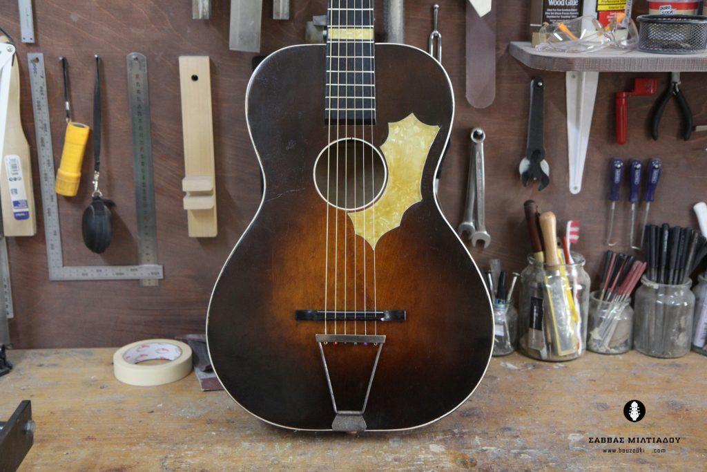 Επισκευή ακουστικής κιθάρας - Old Acoustic Guitar Restored - Repair - Οργανοποιείο Σ. Μιλτιάδου - BouzoukiCy - Cyprus - Κύπρος (33)