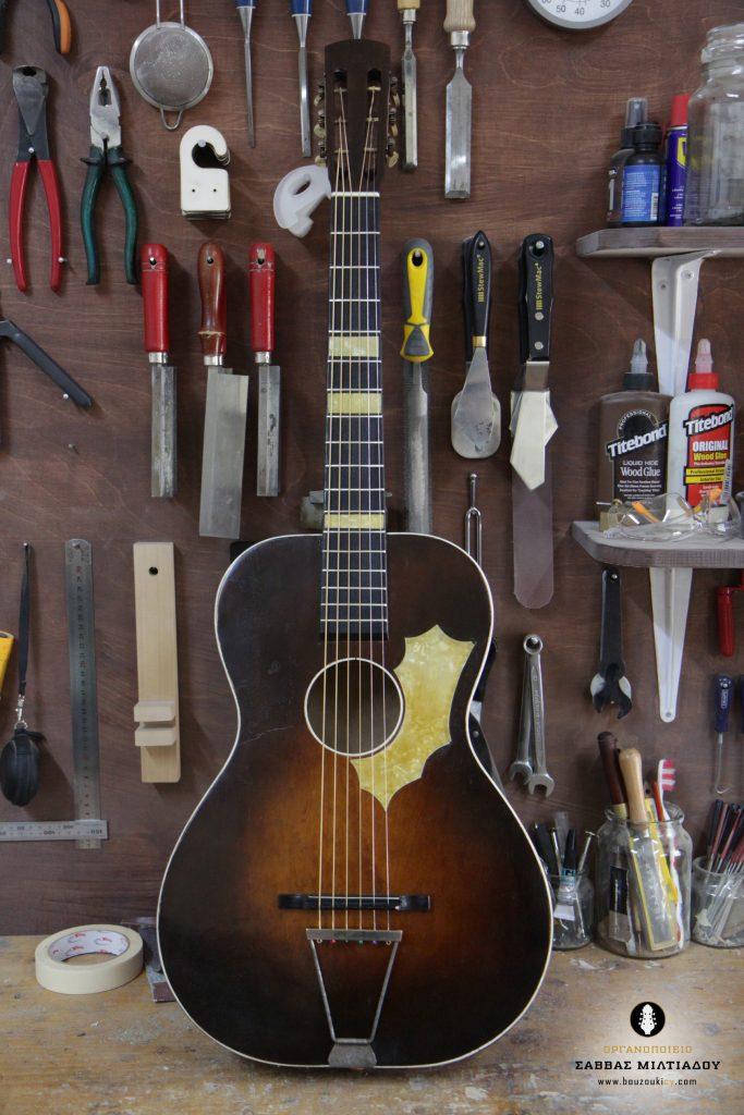 Επισκευή ακουστικής κιθάρας - Old Acoustic Guitar Restored - Repair - Οργανοποιείο Σ. Μιλτιάδου - BouzoukiCy - Cyprus - Κύπρος (34)