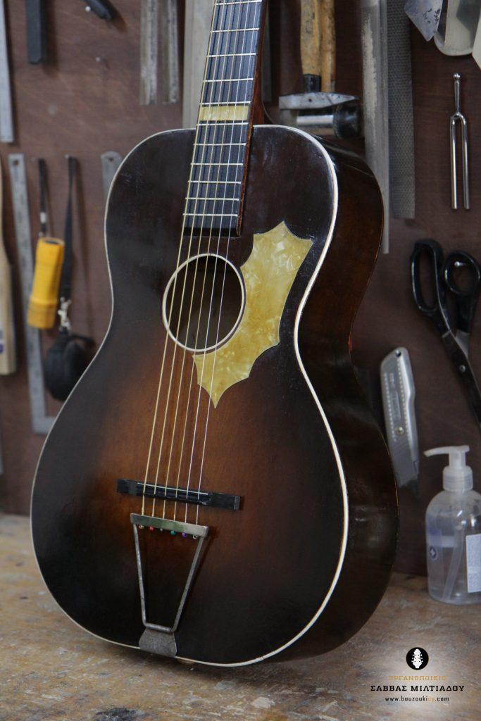 Επισκευή ακουστικής κιθάρας - Old Acoustic Guitar Restored - Repair - Οργανοποιείο Σ. Μιλτιάδου - BouzoukiCy - Cyprus - Κύπρος (35)