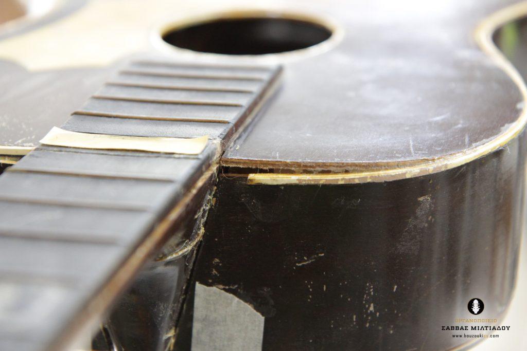Επισκευή ακουστικής κιθάρας - Old Acoustic Guitar Restored - Repair - Οργανοποιείο Σ. Μιλτιάδου - BouzoukiCy - Cyprus - Κύπρος (5)