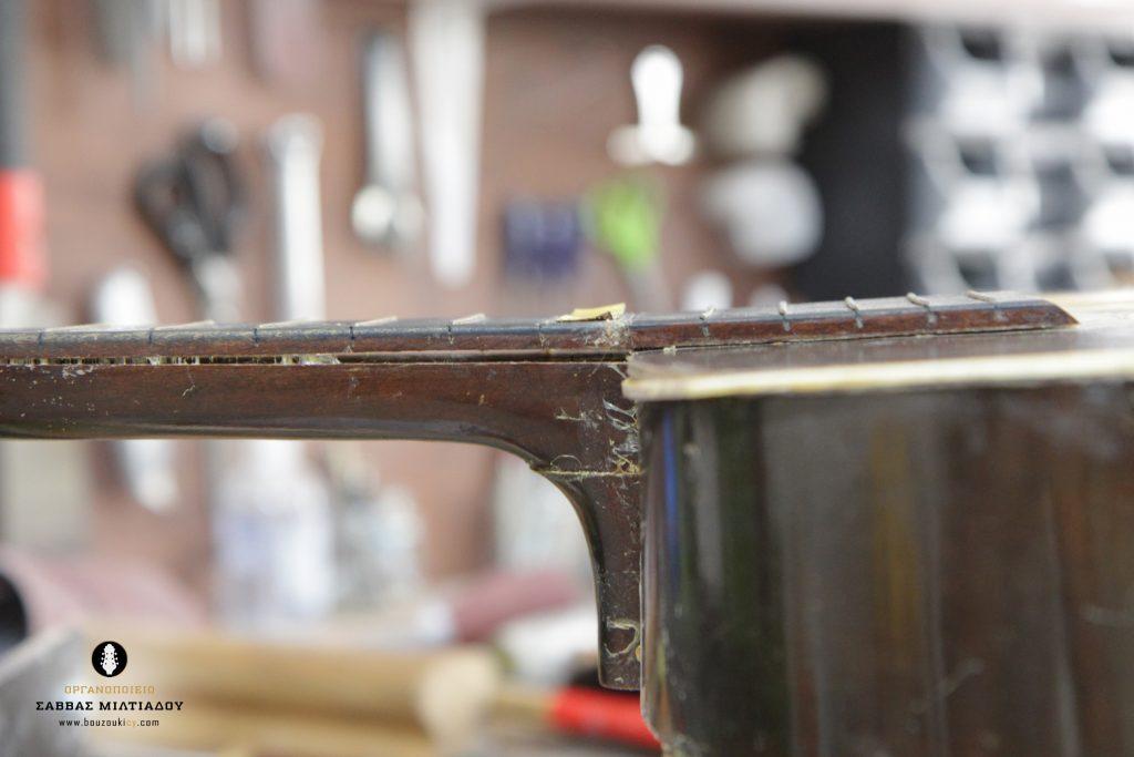 Επισκευή ακουστικής κιθάρας - Old Acoustic Guitar Restored - Repair - Οργανοποιείο Σ. Μιλτιάδου - BouzoukiCy - Cyprus - Κύπρος (6)