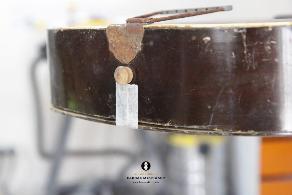 Επισκευή ακουστικής κιθάρας - Old Acoustic Guitar Restored - Repair - Οργανοποιείο Σ. Μιλτιάδου - BouzoukiCy - Cyprus - Κύπρος (8)