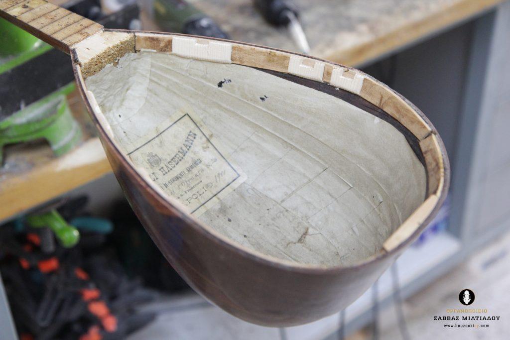 Fratelli Hasermann Mandolin Restored-Napoli 1901-Repair- Επισκευή ιταλικού μαντολίνου - Οργανοποιείο Σ. Μιλτιάδου - BouzoukiCy - Cyprus (13)